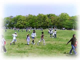 キッズプレイス遠足花畑園芸公園1