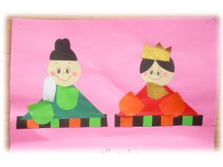 小笹長丘保育園のひな祭り製作